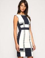 Free shipping Retail 2013 New Fashion Net color vest dress fashion mixed colors Slim Dresses DJ040