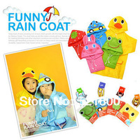 Promotion LINDA raincoat cartoon animal style raincoat child poncho baby raincoat children rain coat/ cloak free shipping