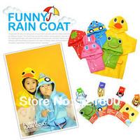 Promotion LINDA raincoat cartoon animal style raincoat child poncho baby raincoat children rain coat/ cloak free shipping