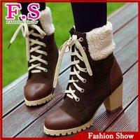 Big Size 34-43 Fashion Women's Snow Boots Warm Lamb Fur Shoes Platform ankle boots for Women Winter Dress Casual Shoes XB071