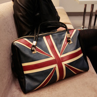 M word flag bags british style flag bag color block one shoulder handbag large bag fashion female