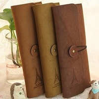 Corner zakka pencil case fresh vintage leather korea stationery