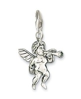 Free Shipping !!!min order 10 u.s.d.,Wholesale Hot fashion Super price Angel trumpet 925 Silver Items Charm Pendant