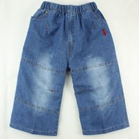 Male child denim capris child denim knee-length pants male child denim breeched children's pants denim capris 838