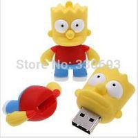 Wholesale Fashion Cartoon Simpsons Bart  32GB USB LED Flash 2.0 Memory Drive Stick Pen/Thumb/Car+ Free shipping+Drop shipping