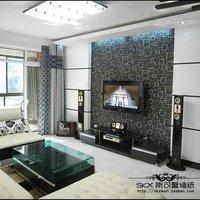 Free shipping Fashion square plaid tv abstract pvc wallpaper sofa wallpaper