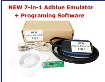 Hot Sell NEW 7 in 1 Truck Adblue Emulator +Program software Tool for Mercedes Benz/ MAN/ Scania/Iveco/ DAF/ Volvo/ Renault 7IN1