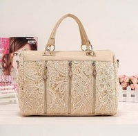 2013 Fashion Women's Handbag Vintage New Fashion Lady Retro Lace Handbag PU (Faux) Leather Designer Crossbody Tote Bag