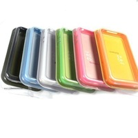 Colorful Bumper Frame TPU Silicone Case Cover for iPhone 4 4S w/volume button AJ1000 Free shipping Droppshipping
