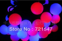 Wholesale and retail  Red, blue double color LED ball lamp series,High quality waterproof holiday lights,5m/50pcs.Free shipping.