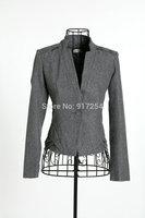 Free Shipping New 2013 autumn winter ladies wool jacket short design slim OL wool coat plus size outerwear