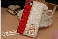 Luxury Fashion 3D bear case  For  iPhone 5 5S 5C 4 4s Samsung Galaxy S4 S IV  I9082 Note 2 3