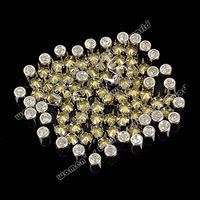 Hot selling 100pcs 5mm Silver DIY Round Rivet Spike Stud Bag Leather Craft 6647