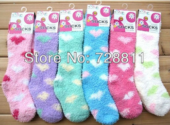 FREE SHIPPING  20pair/lot boy/girl winter warm socks children loving heart design foot wear infant middle tube microfiber socks