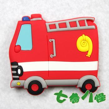 Cartoon refrigerator stickers magnets magnetic blackboard stickers fire truck MOQ USD15 MIX