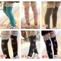 free shipping Children's clothing female child autumn princess 100% cotton stocking socks