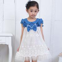 free shipping Balabala children's clothing female child 2013 new arrival summer short-sleeve dress child princess dress