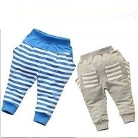 Retail 1 pcs spring autumn 2013 children baby girls boys pants kids trousers stripe print New design high free shippig CC0328