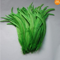 50Pcs Green Color Beautiful 12-14inches/30-35cm Rooster Tail For Costume&Mask