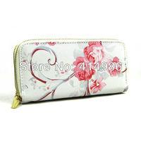 HOT Free shipping 2014 new fashion rose long designer wallet for women lady's pure handbag 131166