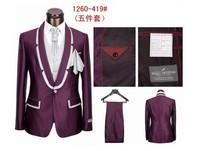 2014 Men's Brand Tuxedo Suit formal dress men suits men business &wedding suits fashion suit dress for men 5 pieces S-4xl