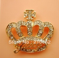 2014 Direct Selling Sale Flat Back Rhinestone Crown Charm Dy483 for Diy Phone Decoration 12pc/lot Min.order Is $15 (mixed Order)