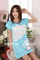 New Hot Summer Women Clothing Pajamas Cute Cartoon Home Milk Silk Skirt Free Size Free Shipping !