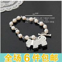 A110 accessories women's classic jewelry full bling rhinestone pearl bracelet