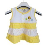 free shipping 100% cotton baby layered dress one-piece dress tank dress vest top