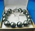 Wholesale Charming!12mm Black South Sea Shell Pearl Bracelet AAA fashion jewelry