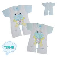 free shipping Baby summer bamboo fibre romper infant short-sleeve bodysuit baby bodysuit