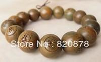 NEW Tibetan Sandalwood Carved Buddha Prayer Beads Bracelet