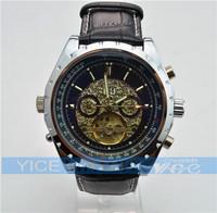 new 1pcs JARAGAR automatic mechanical watch calendar Watch date Business fashion style watches Sample order