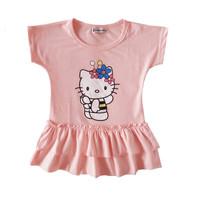 free shipping 2013 summer hellokitty short-sleeve layered dress small female child princess one-piece dress 1 - 5