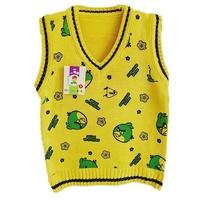 2012 100% autumn cotton baby child yarn vest woven vest male female child yarn vest