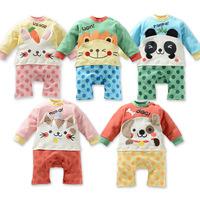 2013 children's clothing 100% cotton baby romper male female child newborn bodysuit romper 2