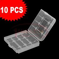 10 pcs  flash lamp battery box storage box white digital camera battery 5 7 number battery