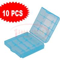 10 flash lamp battery box battery storage box blue 5 7 number battery