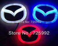 New Arrival 3D EL led car logo decorative lights For Mazda 3 Series car badge LED lamp Auto emblem led light Free shipping