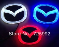 New Arrival 3D EL led car logo decorative lights For Mazda 3 Series car badge LED lamp Auto emblem led light Free shipping