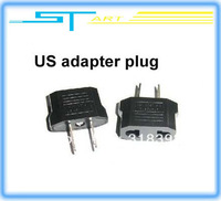Free shipping 2Pcs/lot US AC Power Plug Travel Converter Adapter  forhelicopter boat airplane car
