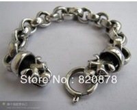 Wholesale Tibet tibetan miao silver hand carved Men `s nugget bracelet fashion jewelry # 002