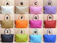 Free shipping# Womens Straw Summer Weave Woven Shoulder Tote Shopping Beach Bag Purse Handbag
