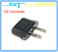Free shipping 100Pcs/lot US AC Power Plug Travel Converter Adapter  forhelicopter boat airplane car