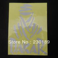 Ninja Vinyl Motorcycle Car Truck Racing DAKAR Decal Sticker Silver Free Shipping