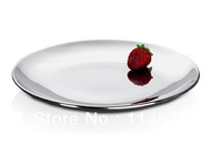 201 stainless steel double layer dish plate best hotel & home dinner plate with heat-proof adiabatic fruite  plate 8in. wholeale