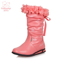 Free Shipping female child boots children boots 2012 female child winter boots child genuine leather  snow boots
