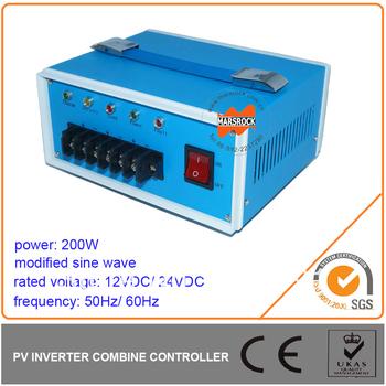 200W Modified Sine Wave Inverter Built in PWM Controller,DC12V/ 24V, AC110V/ 220V, 50Hz or 60Hz for Off Grid System