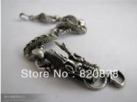 Wholesale Tibet tibetan miao silver hand carved Men `s Long bracelet fashion jewelry # 002