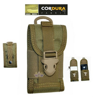 CORDURA big screen mobile phone cover bag,military waterproof nylon cellphone sundries pouch,tan,black,army green freeship